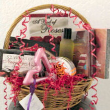 A Romantic Holiday Gift Basket