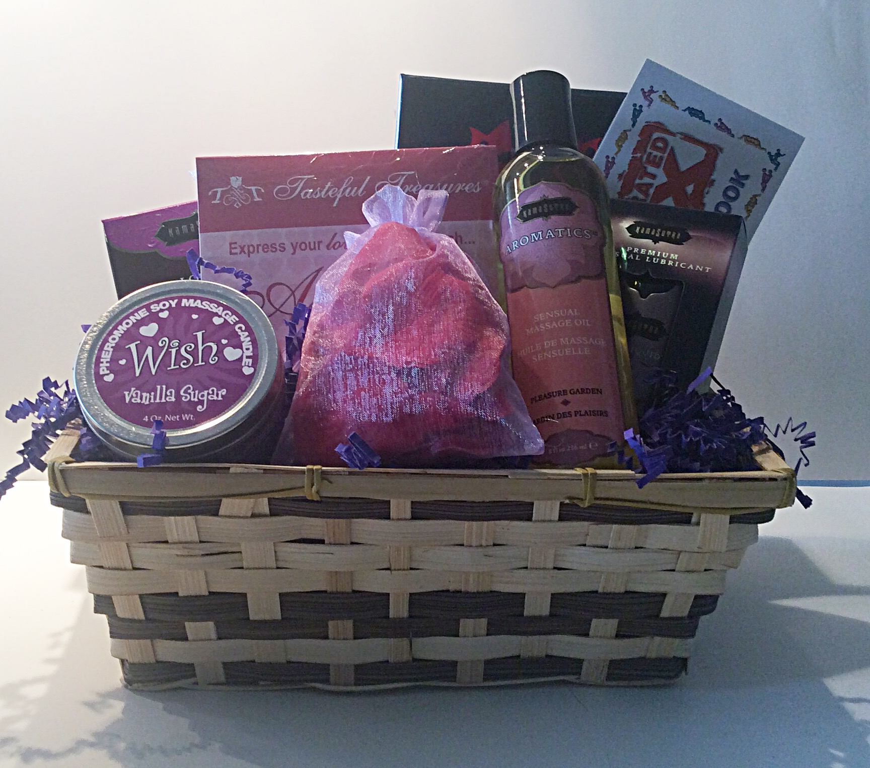 Romantic gifts and gift baskets for all occasions a romantic valentine gift basket sciox Choice Image